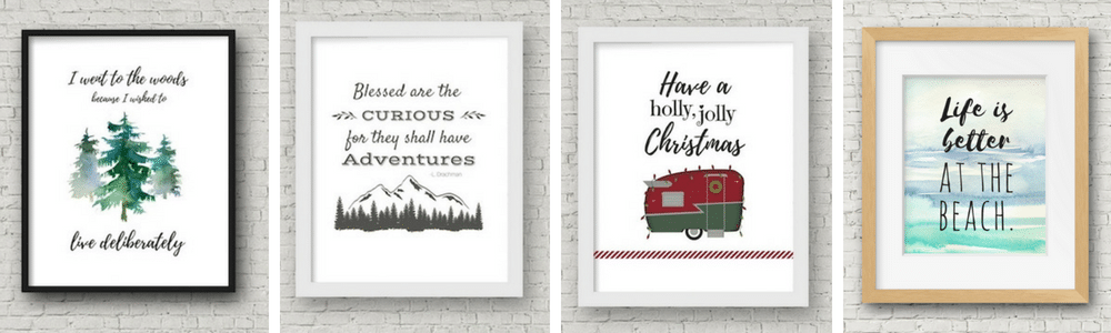 Free printable wall decor for your RV