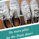 Shoe storage and organization hacks pin image