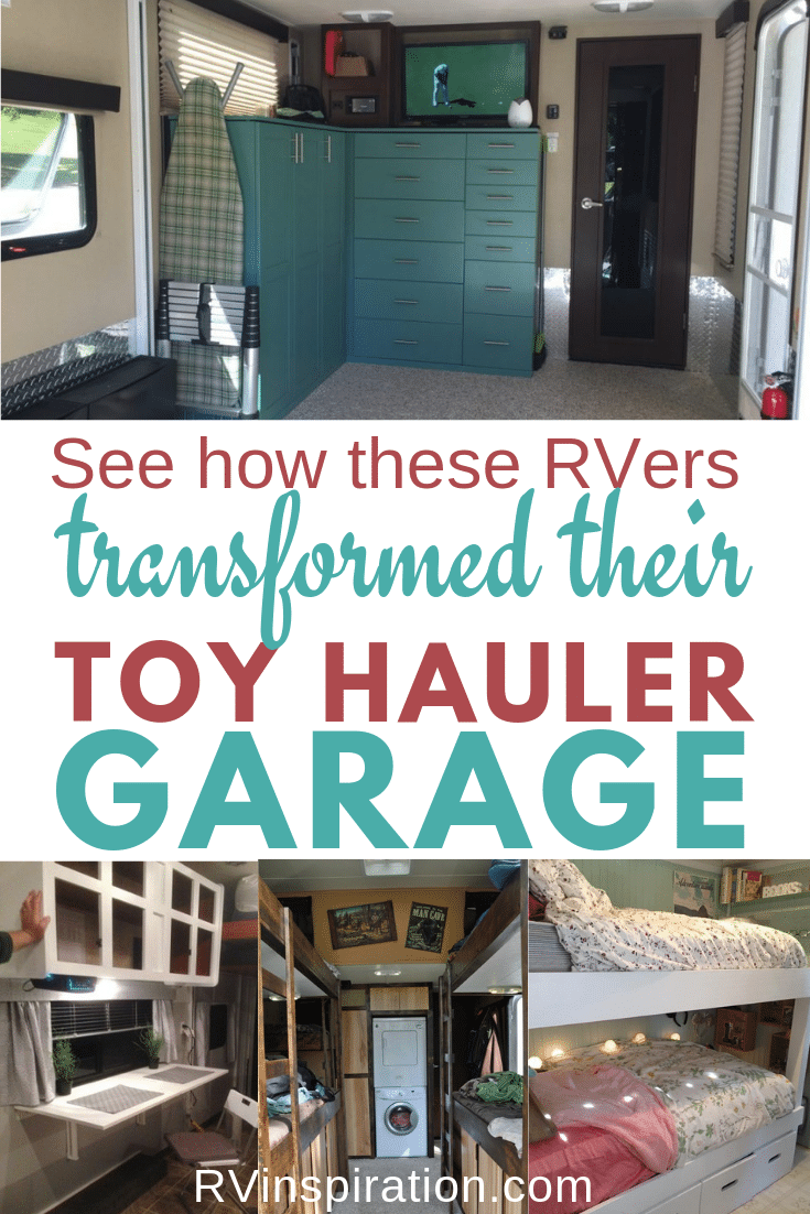 Ideas for repurposing or remodeling the garage in an RV toy hauler