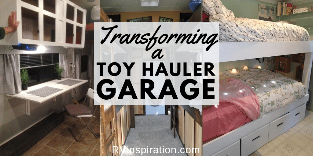 How to remodel a toy hauler garage in an RV to use as a bedroom, office, or living area