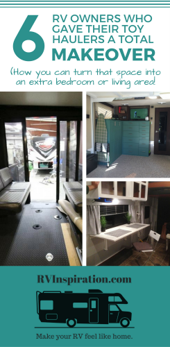These fifth wheel owners turned their storage space into extra living space or an extra bedroom. Check out the photos of their makeovers.