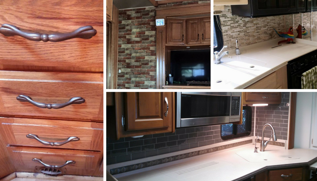 Without Painting Cabinets: 7 Ideas For Updating Wood Cabinets (Without Painting Them
