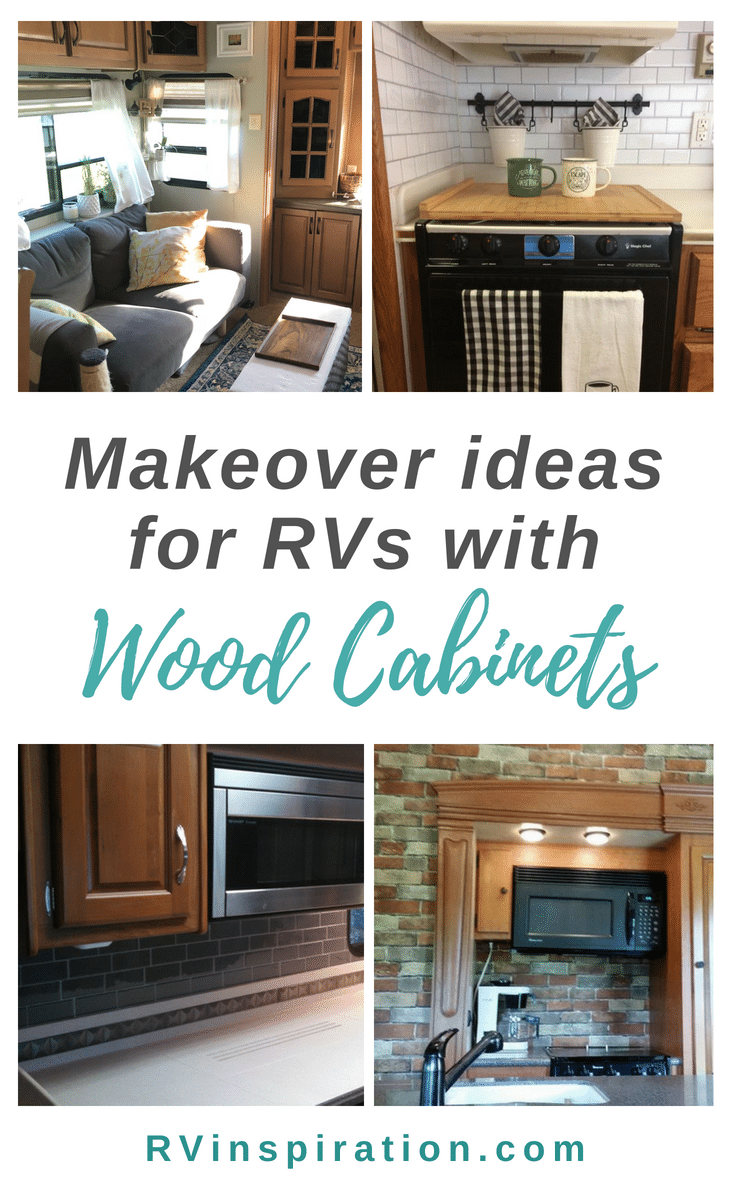 Updates and makeovers for camper and motorhome kitchens with oak cabinets