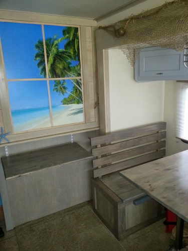 beach wall decal in RV