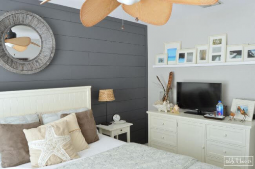gray DIY shiplap