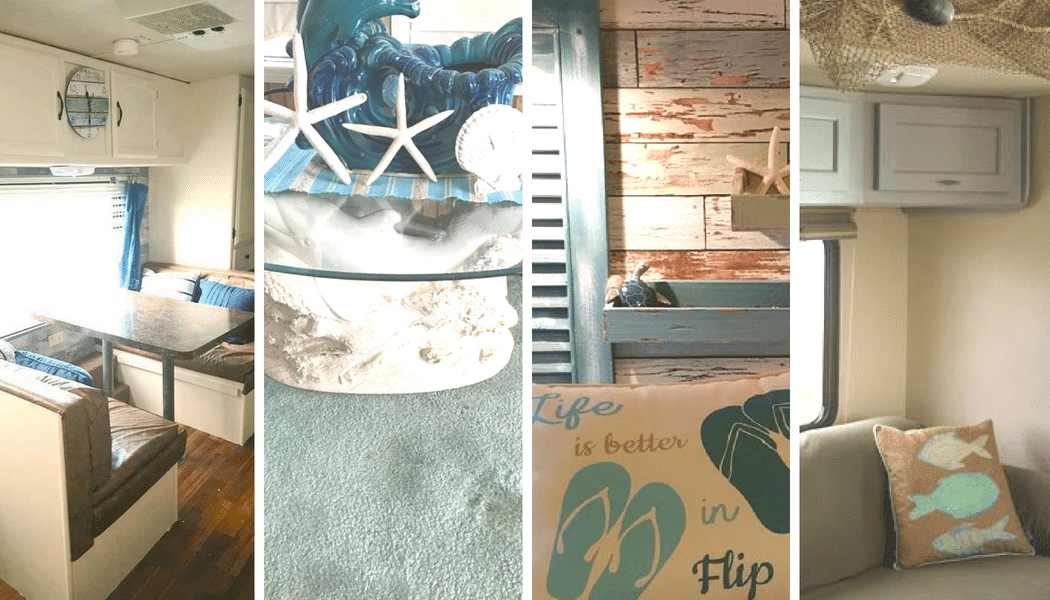 9 RV Makeovers with Beach Themed Decor