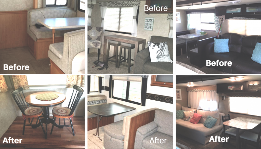RV Owners Who Replaced Their Dining Booths