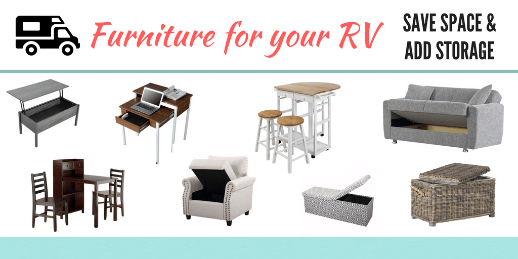 Furniture that can help save space and add storage in an RV, camper, or motorhome