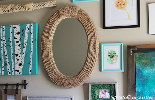 Rope framed mirror