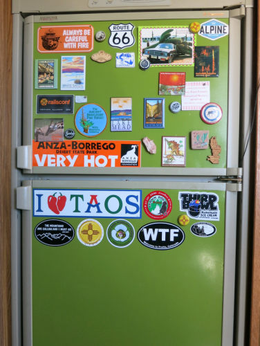 green magnetic fridge