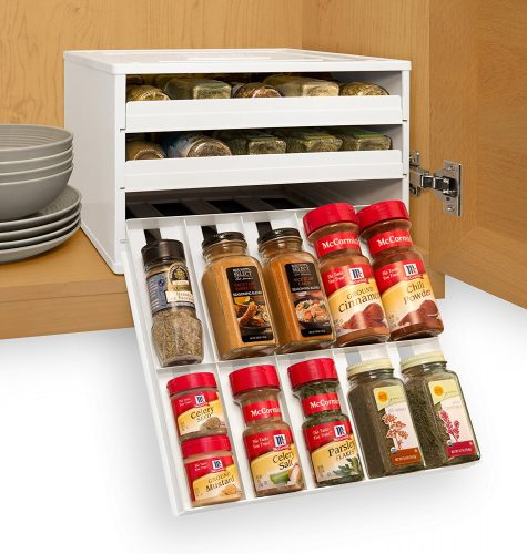 YouCopia pull out spice rack