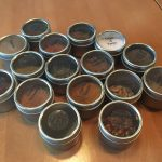 Spice tins with clear labels