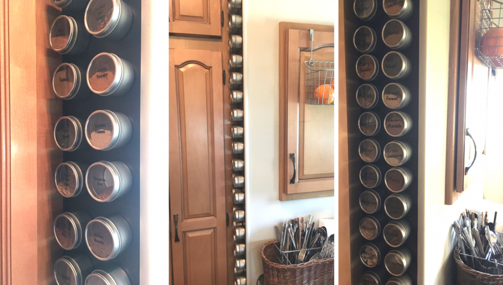 How to Make a Magnetic Spice Storage Wall