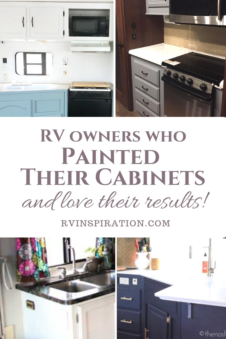 Learn from these RV owners who painted their cabinets and see whether it's a good option for your in your RV. #paintRVcabinets