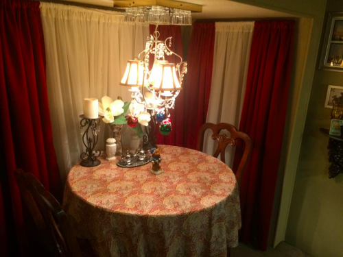 Formal curtains in an RV