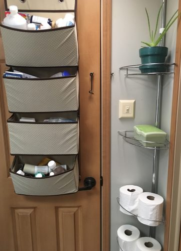 Rv Bathroom Storage Organization Ideas And Accessories Rv Inspiration