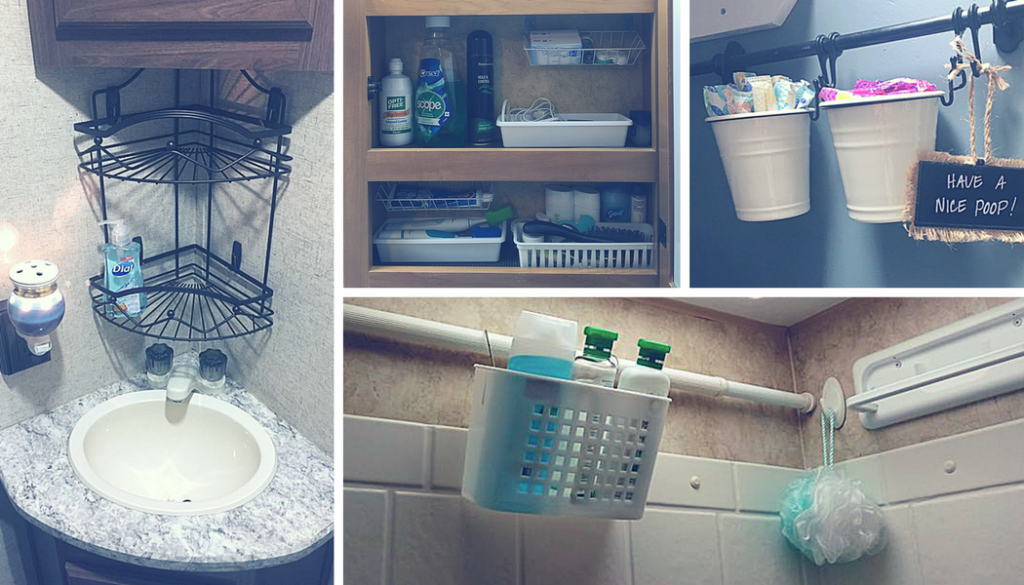 RV Bathroom Storage & Organization Ideas and Accessories