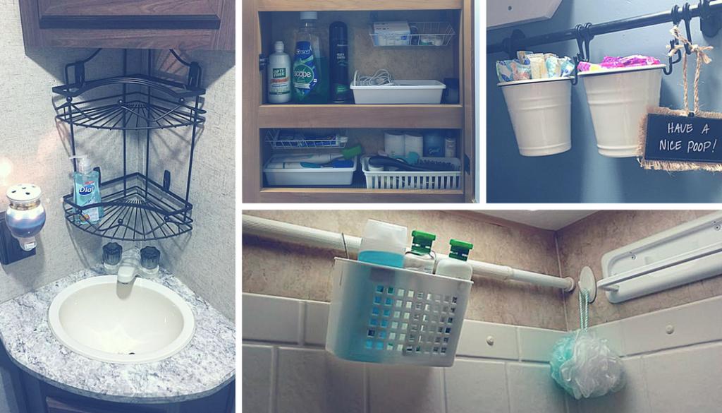 Rv Bathroom Storage Organization