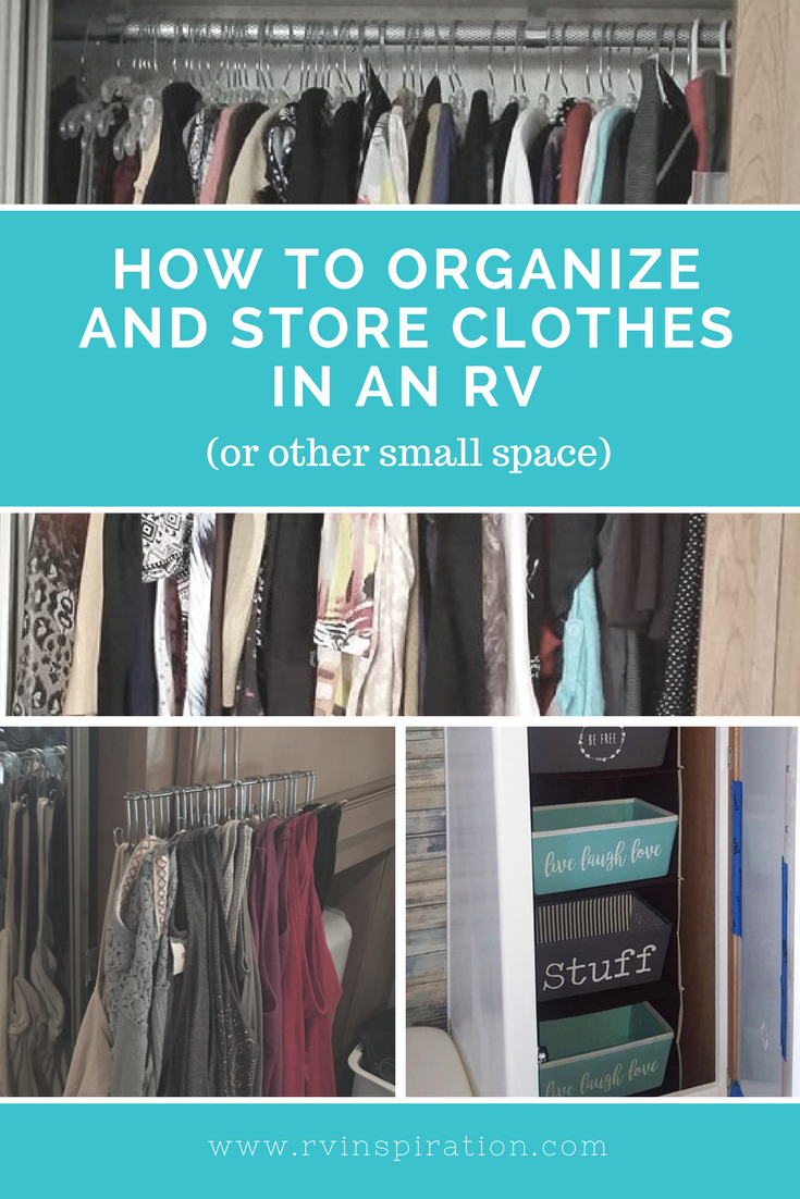 Clothing #storage and closet #organization ideas for your #camper, #motorhomes, #traveltrailer, or small #apartment