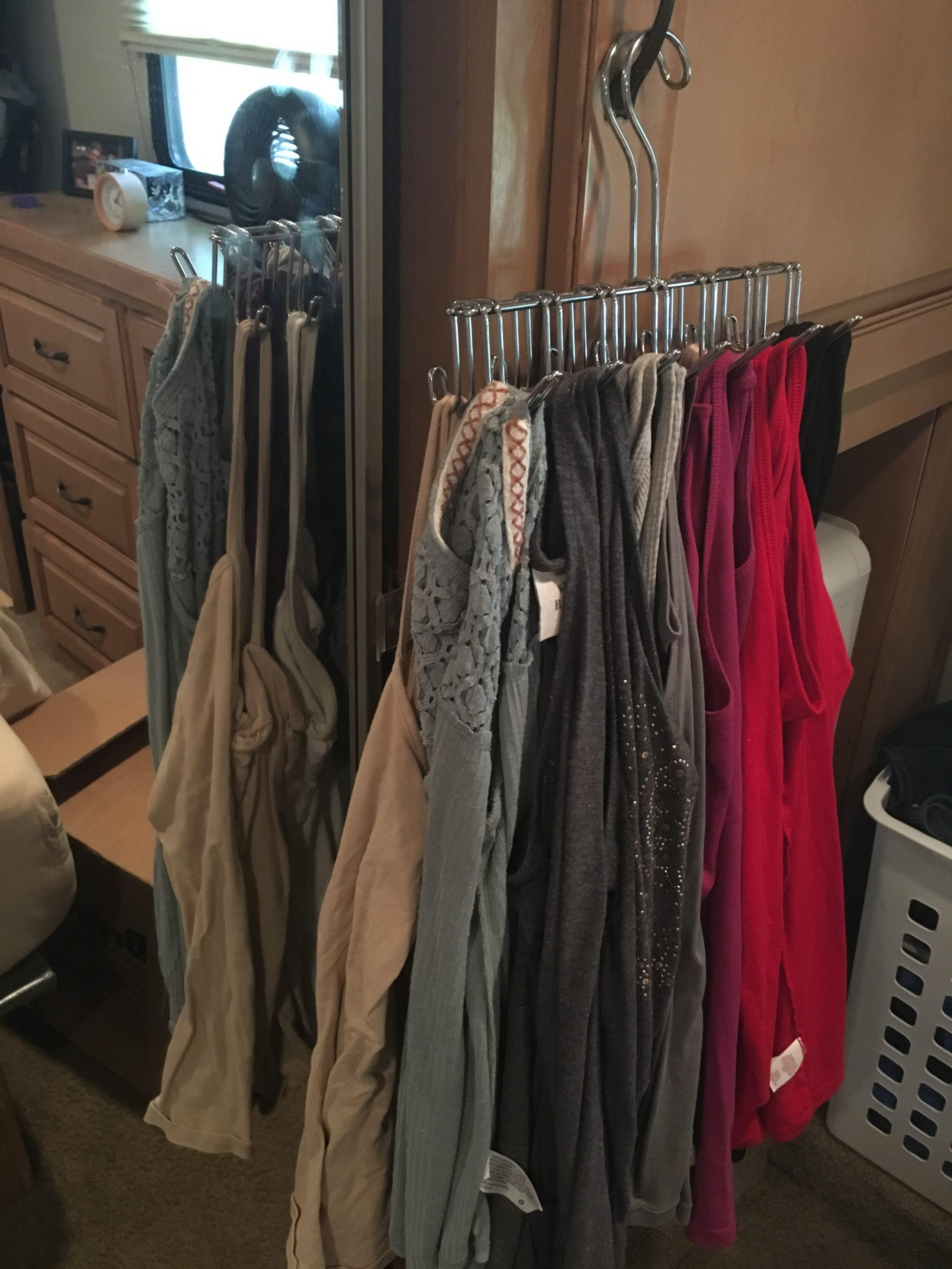24+ Clothes Storage & Closet Organization Ideas  RV Inspiration
