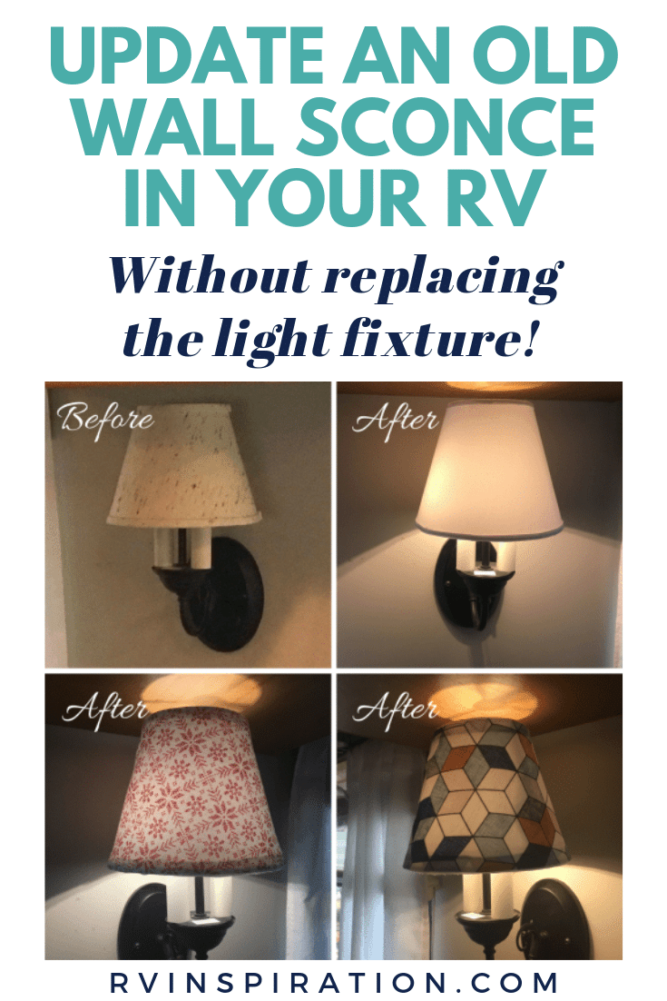 DIY removable lamp shade covers for your camper or motorhome