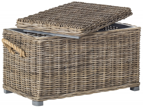 Wicker storage coffee table for motorhomes, campers, and travel trailers   RV furniture