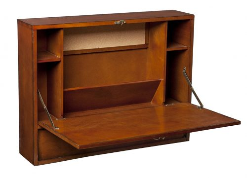 Folding wall mounted writing desk - best furniture for RVs, campers, travel trailers, and motorhomes