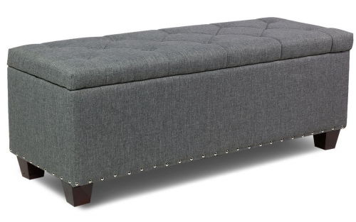 Storage ottoman coffee table for motorhomes, campers, and travel trailers | RV furniture