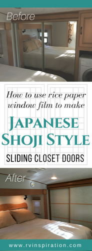 DIY Mirror Closet Makeover Idea: How to Turn Sliding Doors into Japanese Shoji Screens (without any permanent damage!)
