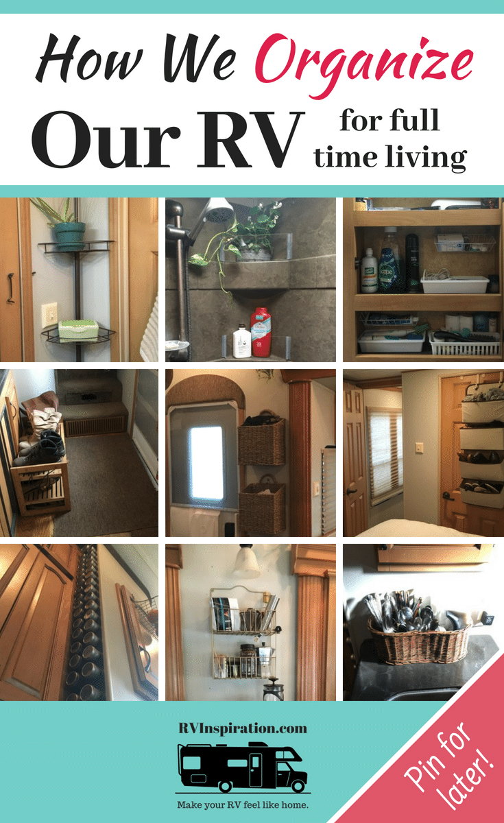 "In this ""tour"" of our #RV I share some of the ways I've organized our #fifthwheel #camper for full time living!"