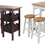 Best kitchen islands for motorhomes, campers, and travel trailers | replace dinette dining booth RV furniture makeover