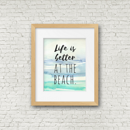 Free printable beach themed wall decor from RV Inspiration | Ideas for campers, motorhomes, and travel trailers