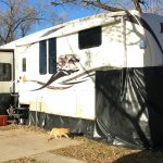 How We Made $200 DIY Vinyl RV Skirting for Winter