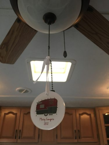 Customizable vintage camper Christmas ornament