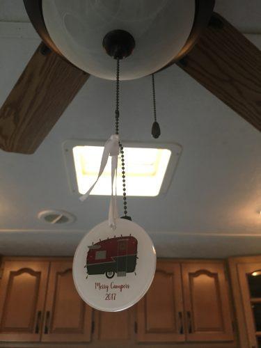 Customizable vintage camper Christmas ornament