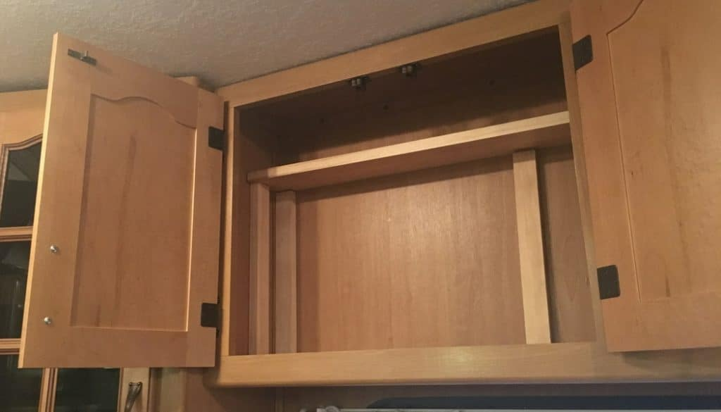 Easy Way to Add a Shelf to an RV Cabinet – No Tools Required!