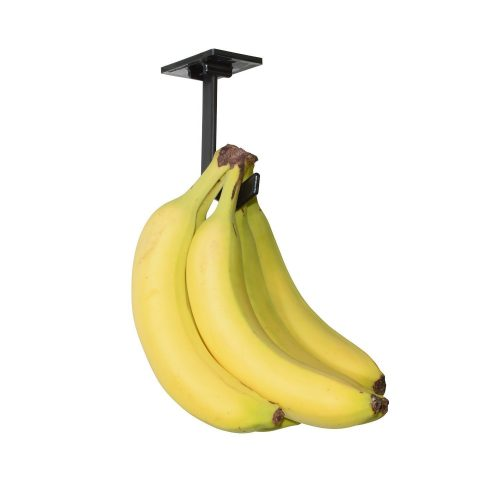 Adhesive under cabinet banana holder