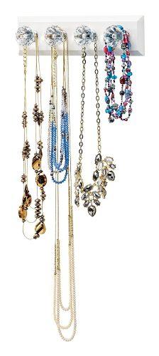 Adhesive jewelry organizer