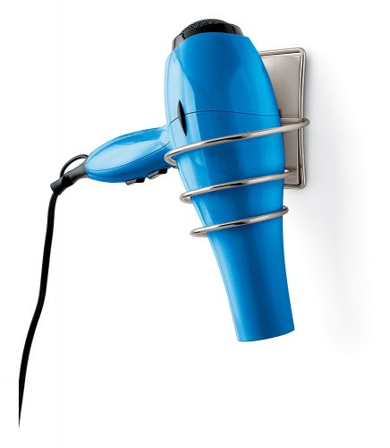 Removable hair dryer holder bathroom organizer from Command brand