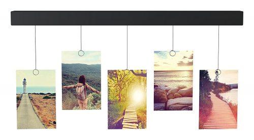 Adhesive bar for displaying photos, artwork, postcards, and more