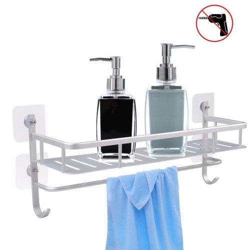 Kitchen or bathroom rack for storage and organization - spice storage, towel bar, utensil caddy, shower caddy, etc.