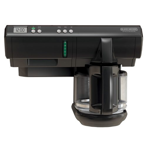 Space saving under cabinet coffee maker for boats, RVs, motorhomes, campers, travel trailers, and small apartment kitchens