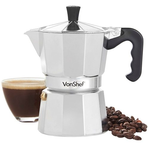 A moka pot can be used to make stovetop espresso in a camper or motorhome.