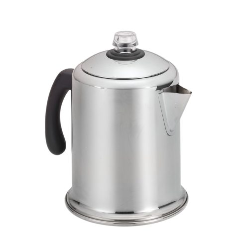 A stovetop percolator can replace a coffeepot in an RV or motorhome.
