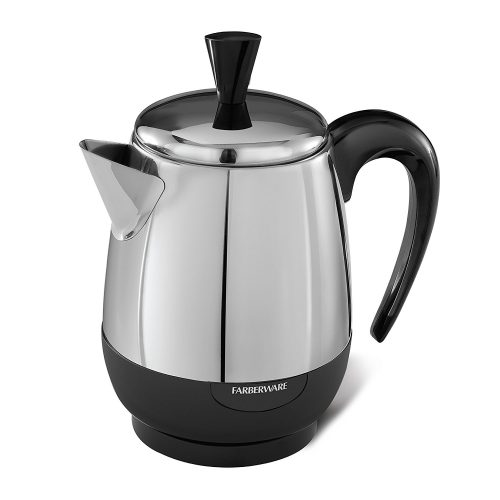 An electric percolator can replace a coffeepot in an RV or motorhome.