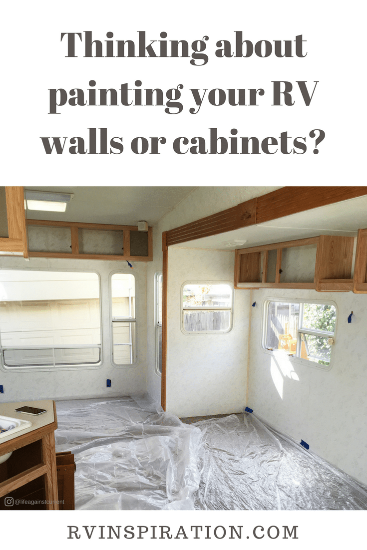 What you need to know before painting the walls and cabinets in your camper, motorhome, or travel trailer.