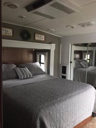 RV bedroom makeover by Cherice Perkins
