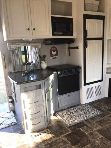 Farmhouse style RV kitchen by Cherice Perkins