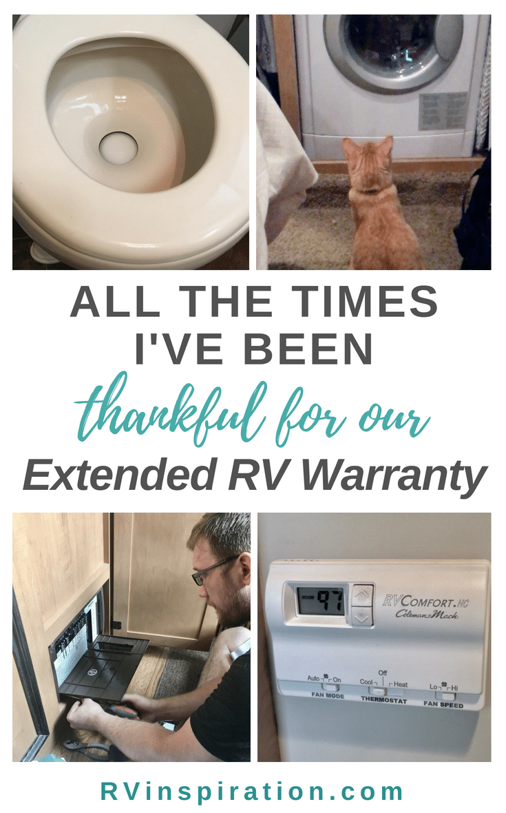 Having an extended warranty has made full time RV life easier by saving us money and giving us peace of mind.