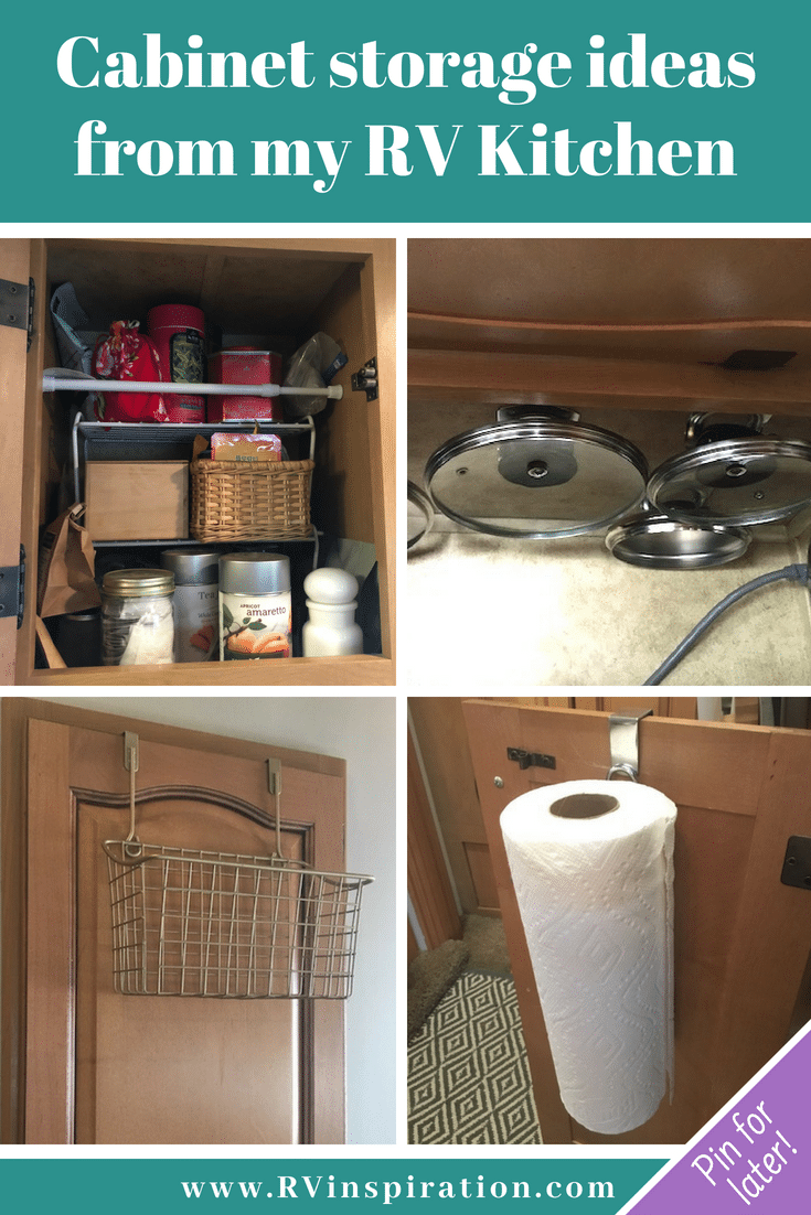 Ways I organize and save space in my #RV #kitchen